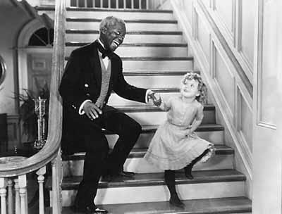Bojangles dancing with Shirley Temple