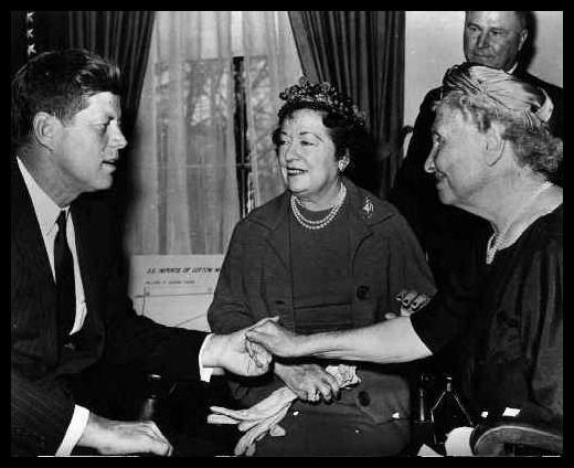 Helen meets President Kennedy