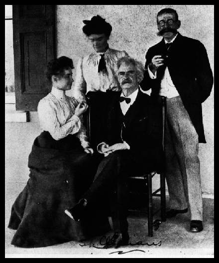 Helen and Anne meet Mark Twain