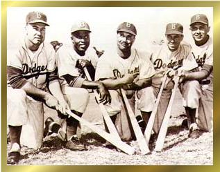Jackie with the Dodgers
